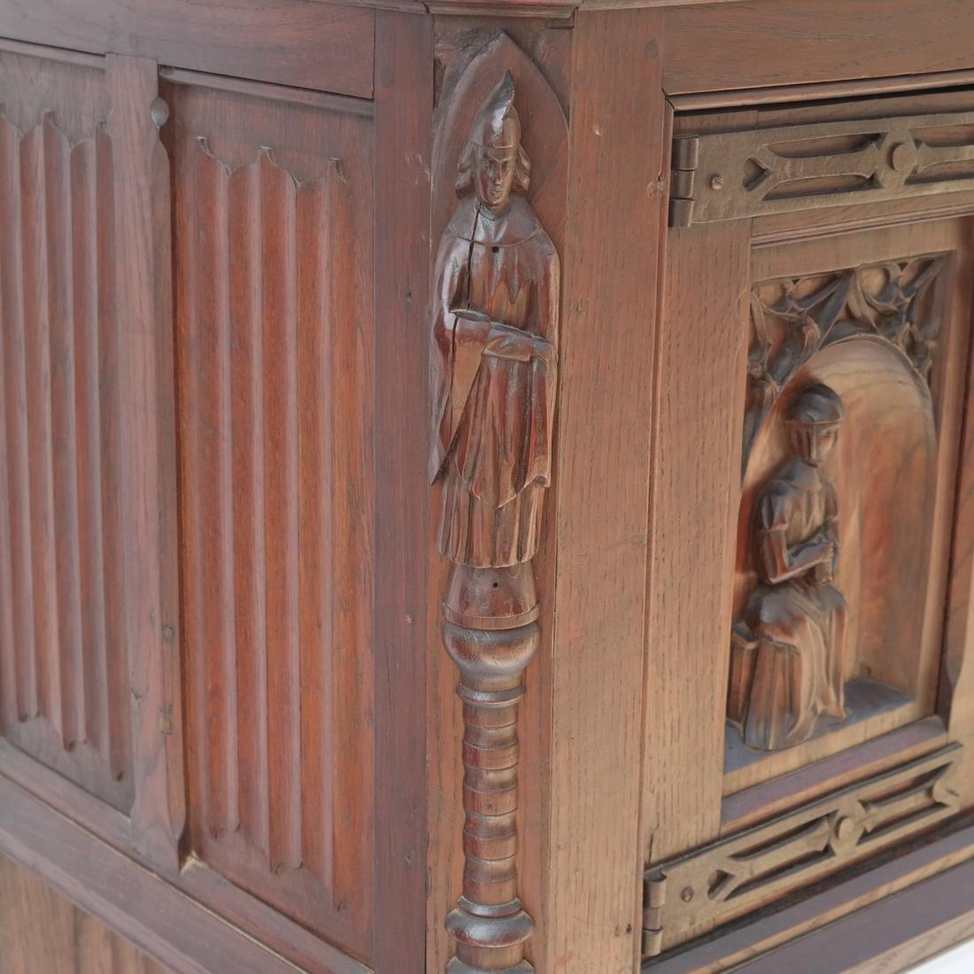 Tudor-Style Two-Door Cabinet - 4