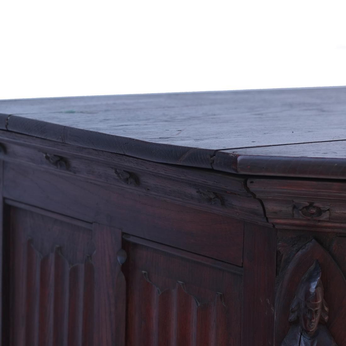 Tudor-Style Two-Door Cabinet - 5