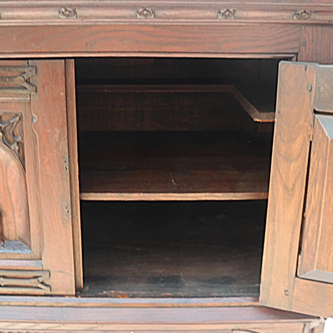 Tudor-Style Two-Door Cabinet - 8