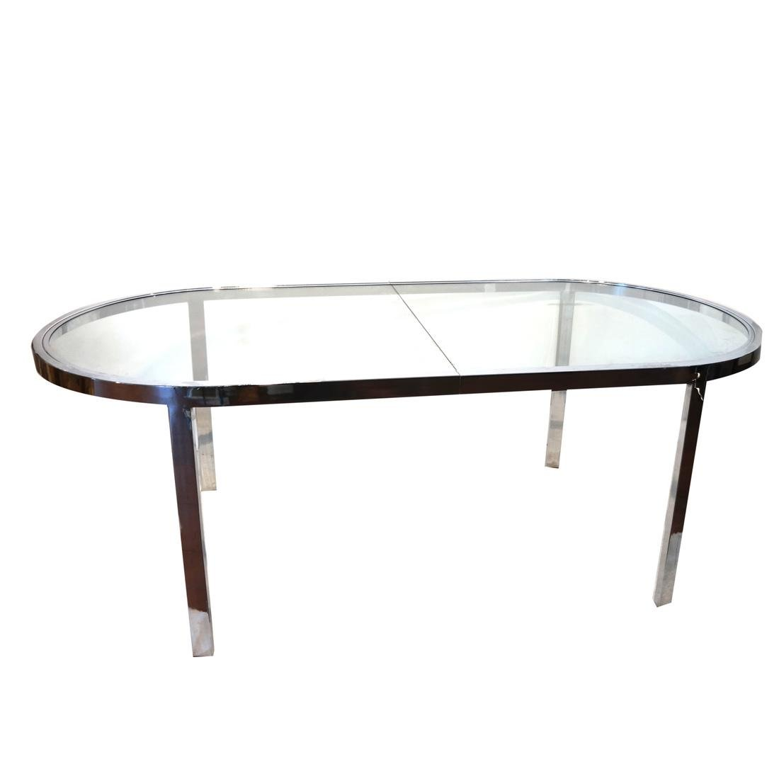 Attributed to Milo Baughman Oval Dining Table