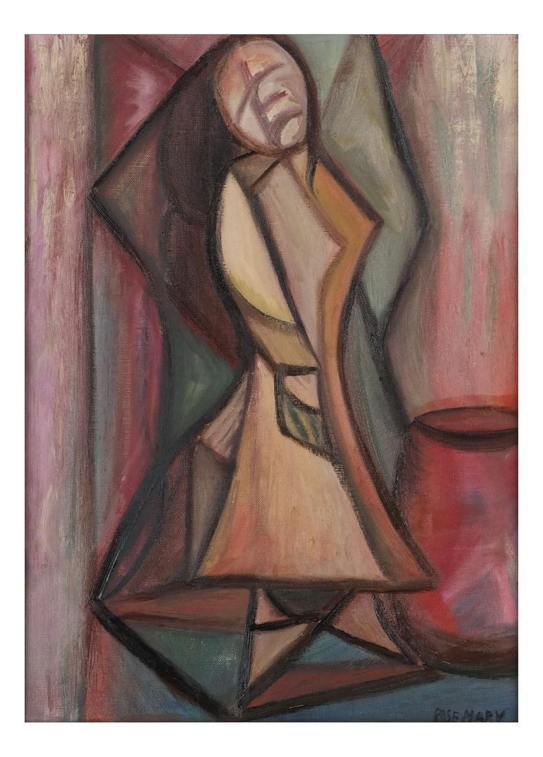 Rose Mary Cubist Female Painting