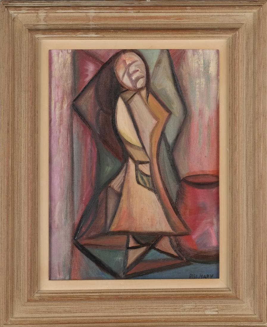 Rose Mary Cubist Female Painting - 2