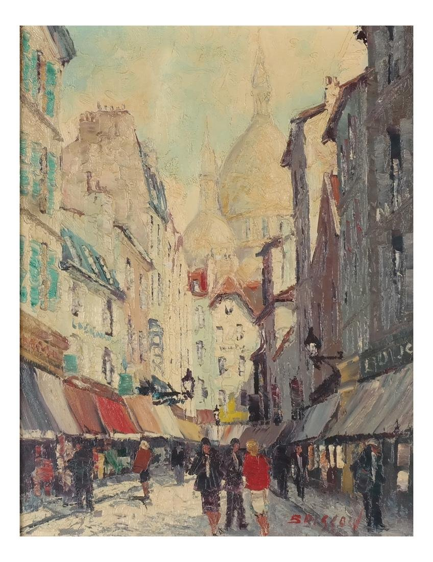 Marcel Brisson Parisian Street O/C