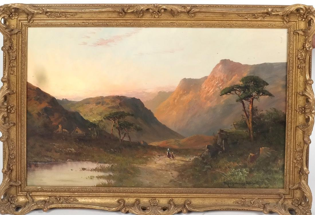 Montgomery Ancell, Mountain Scene, Framed Oil on Canvas - 2