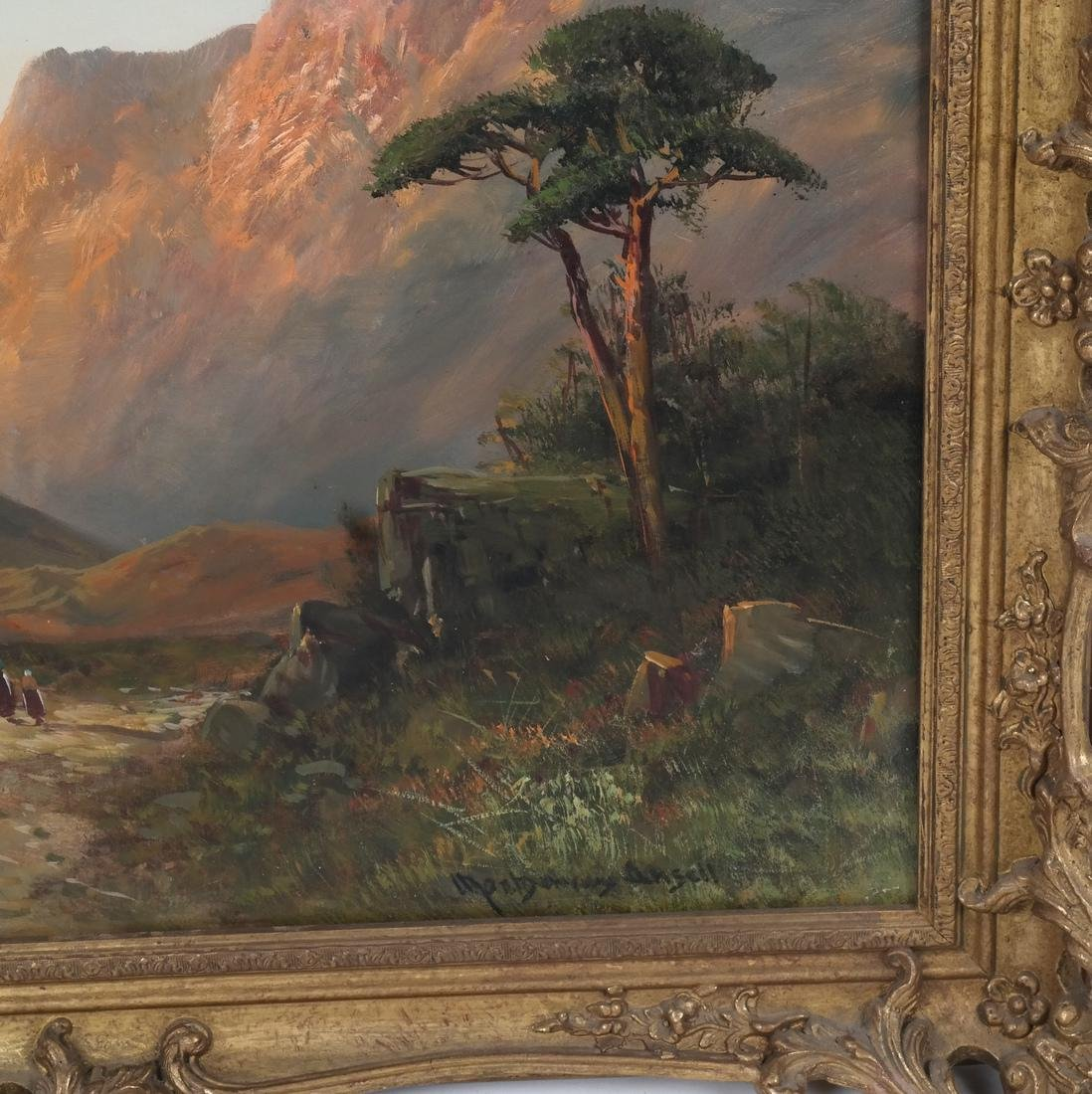Montgomery Ancell, Mountain Scene, Framed Oil on Canvas - 3