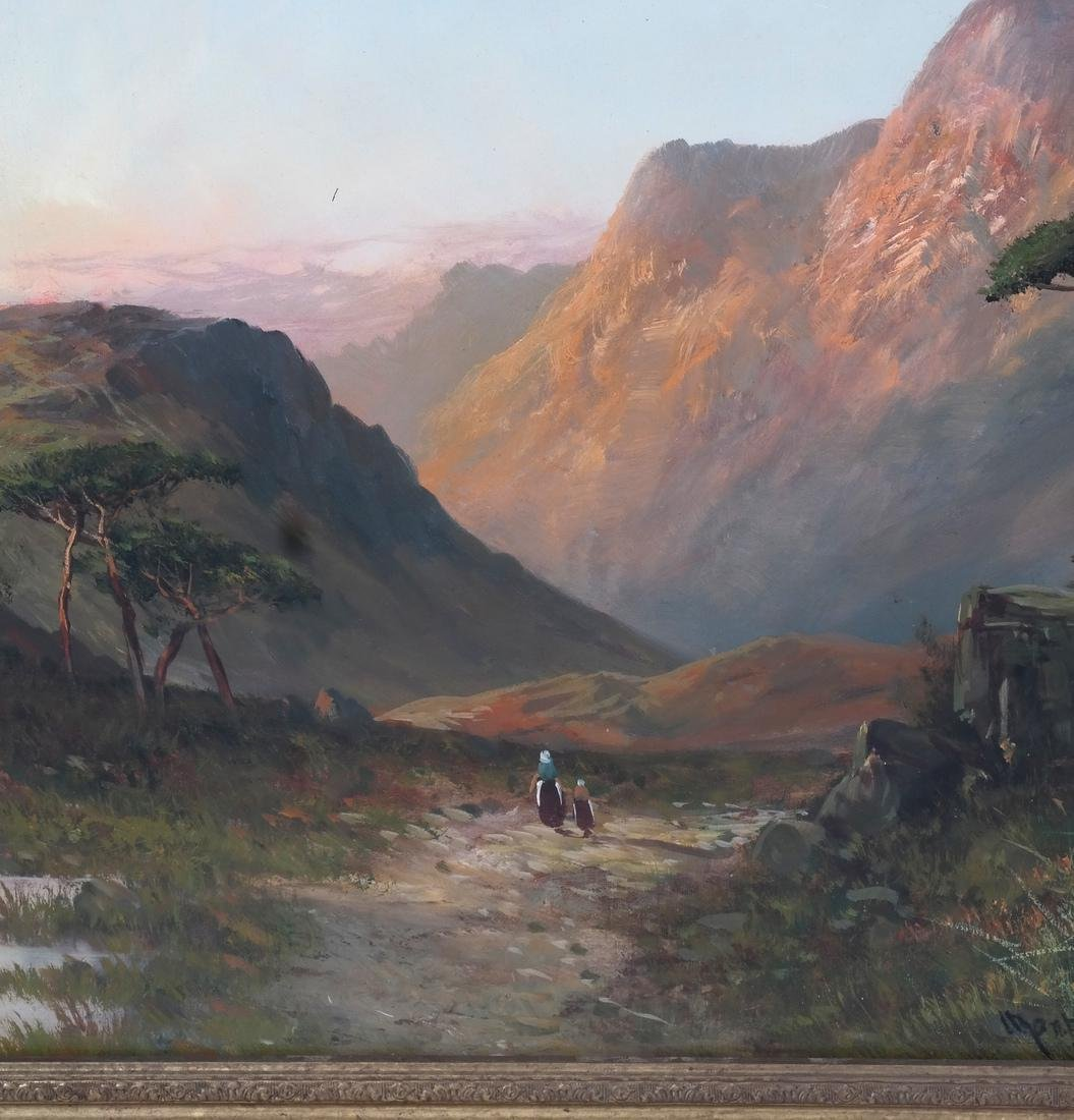 Montgomery Ancell, Mountain Scene, Framed Oil on Canvas - 4