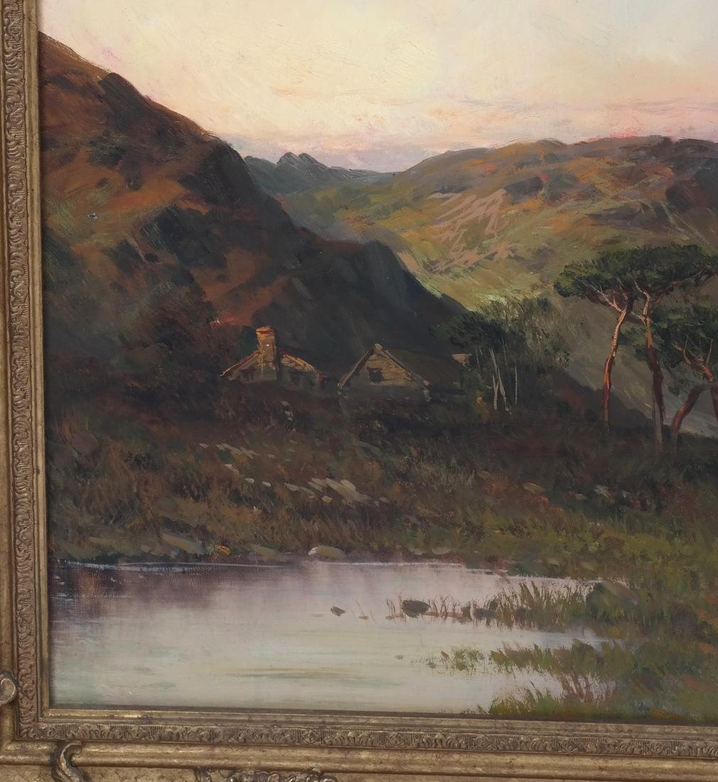 Montgomery Ancell, Mountain Scene, Framed Oil on Canvas - 5