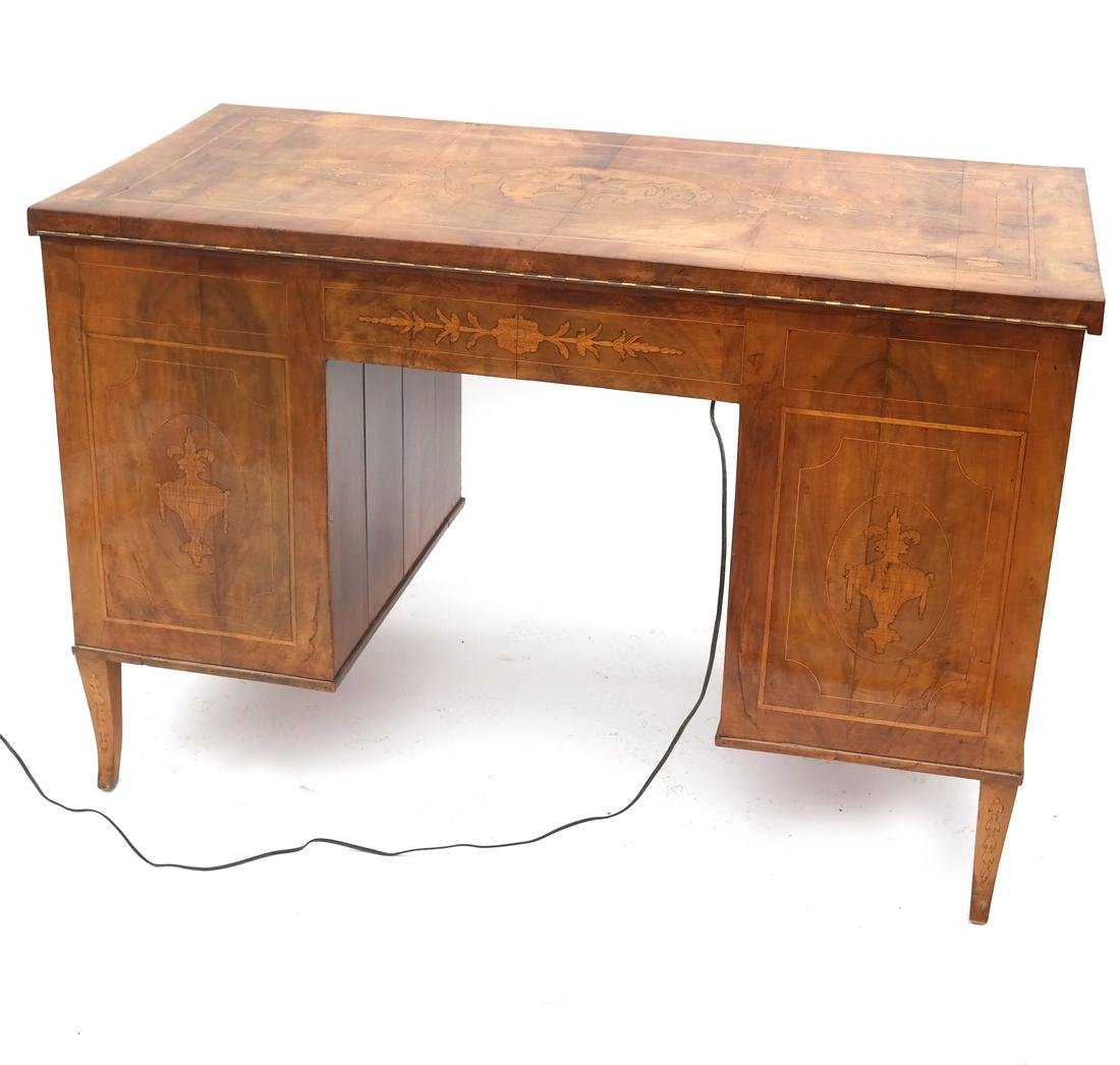 Antique Continental Olivewood Vanity Poudreuse - 2