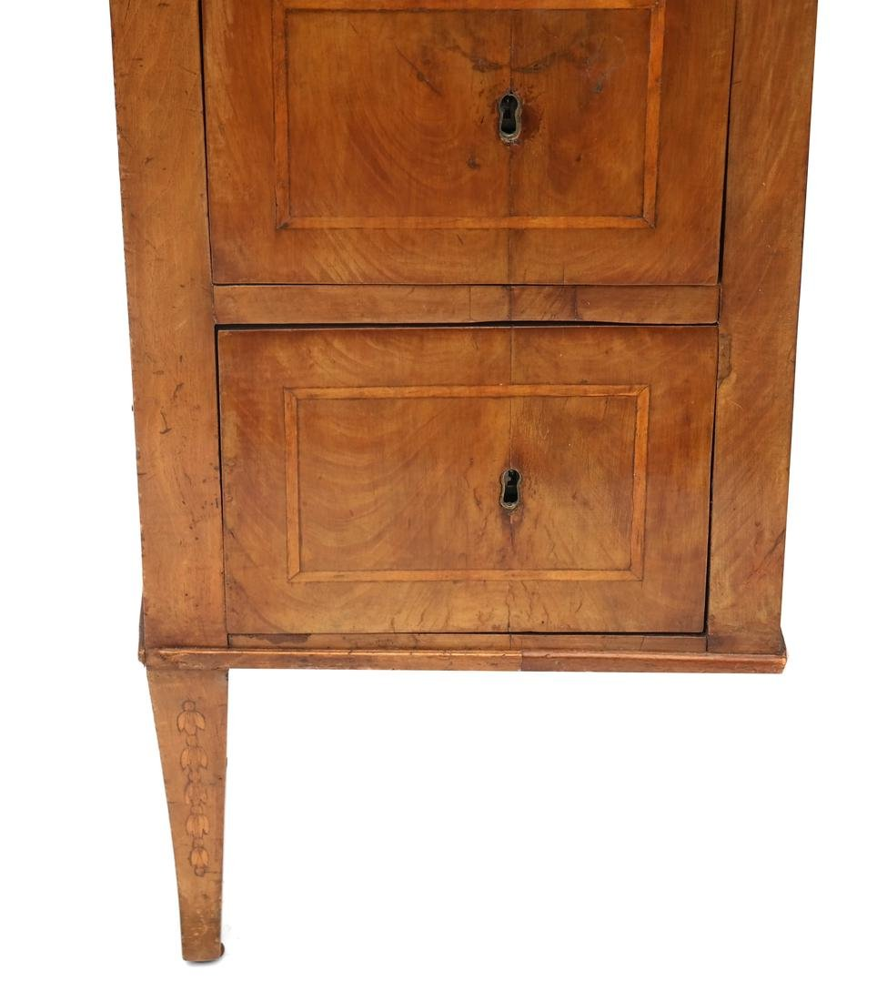 Antique Continental Olivewood Vanity Poudreuse - 3