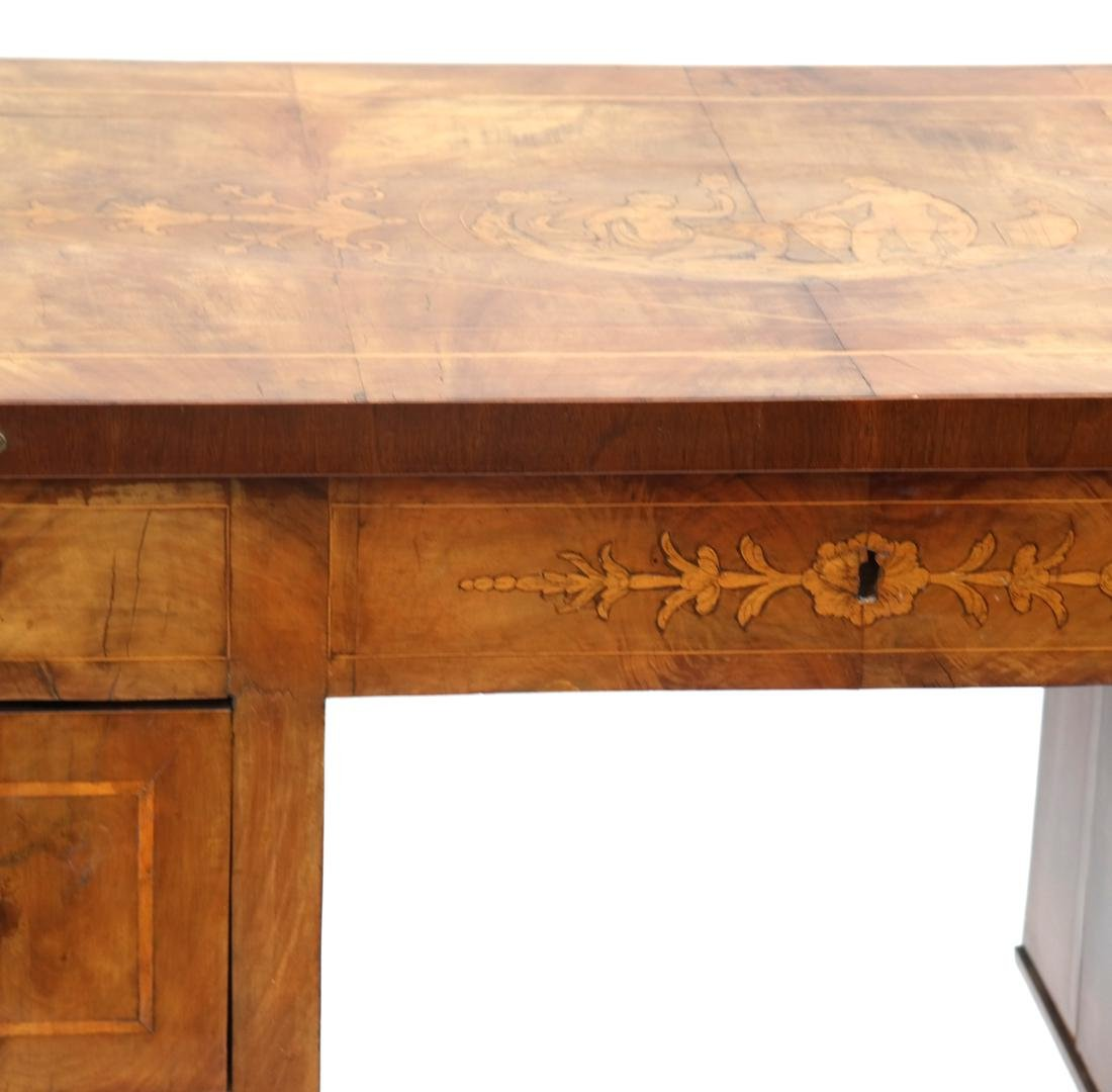 Antique Continental Olivewood Vanity Poudreuse - 4