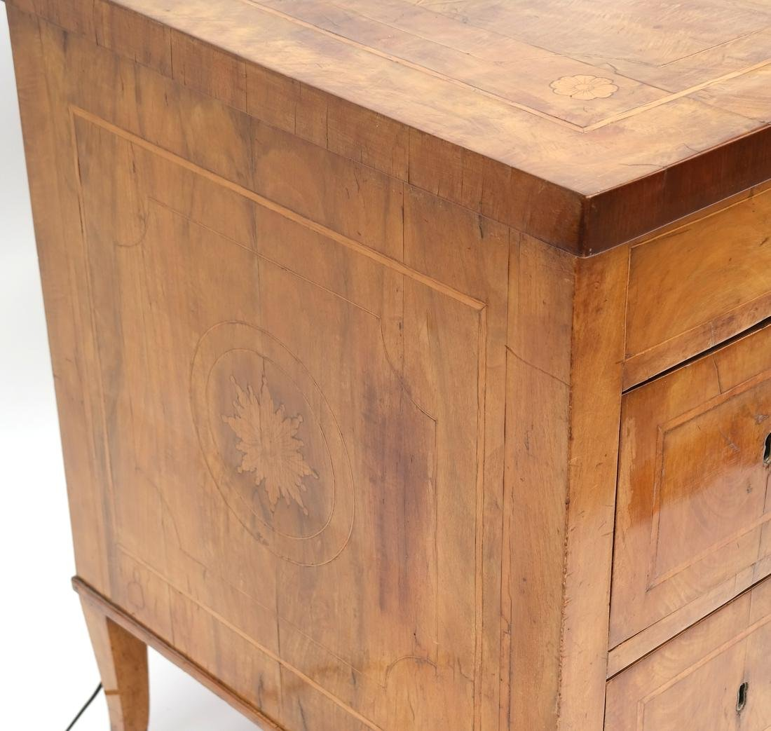 Antique Continental Olivewood Vanity Poudreuse - 6
