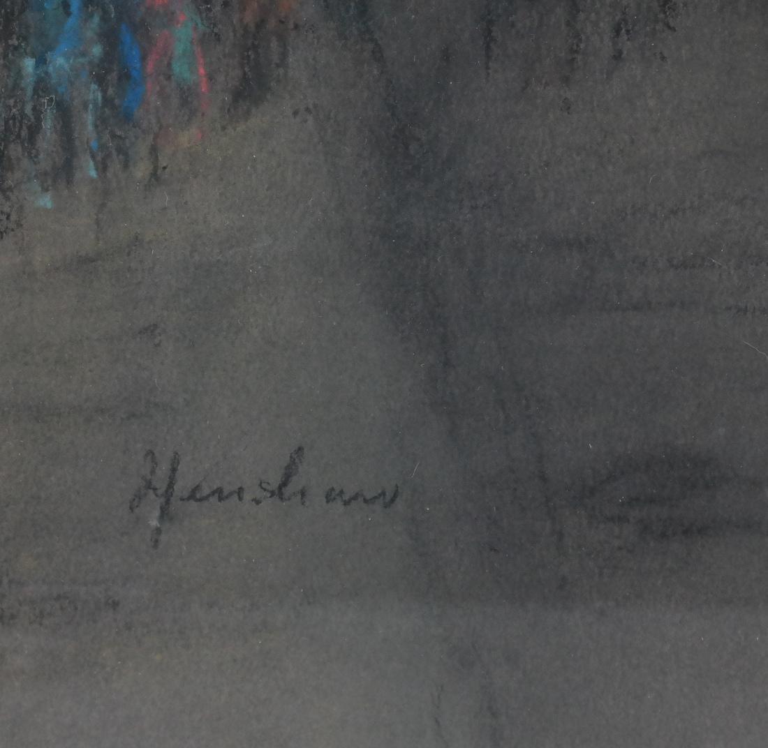 Glen C. Henshaw Signed Framed Pastel - 4