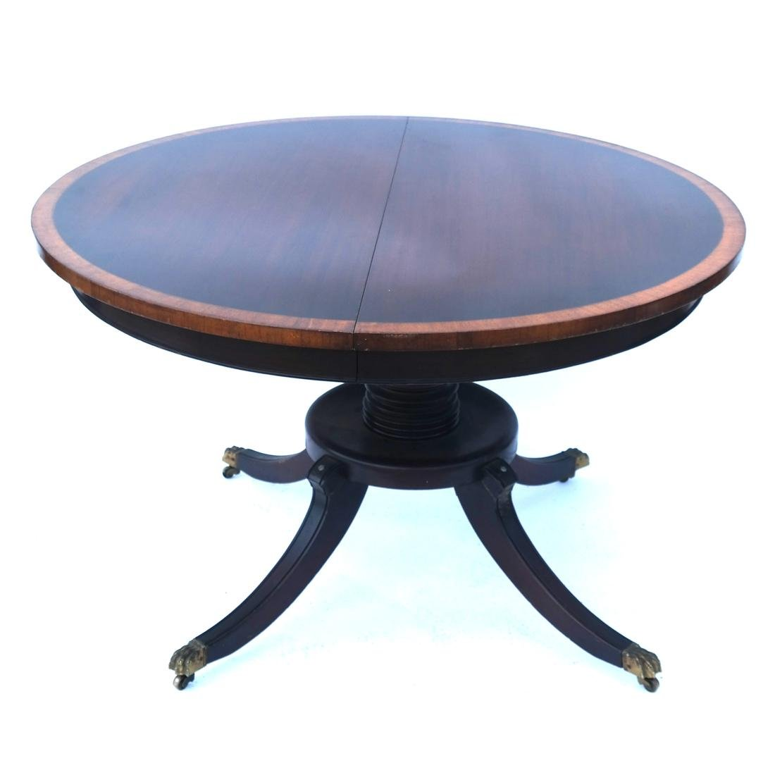 Mahogany Circular Dining Room Table