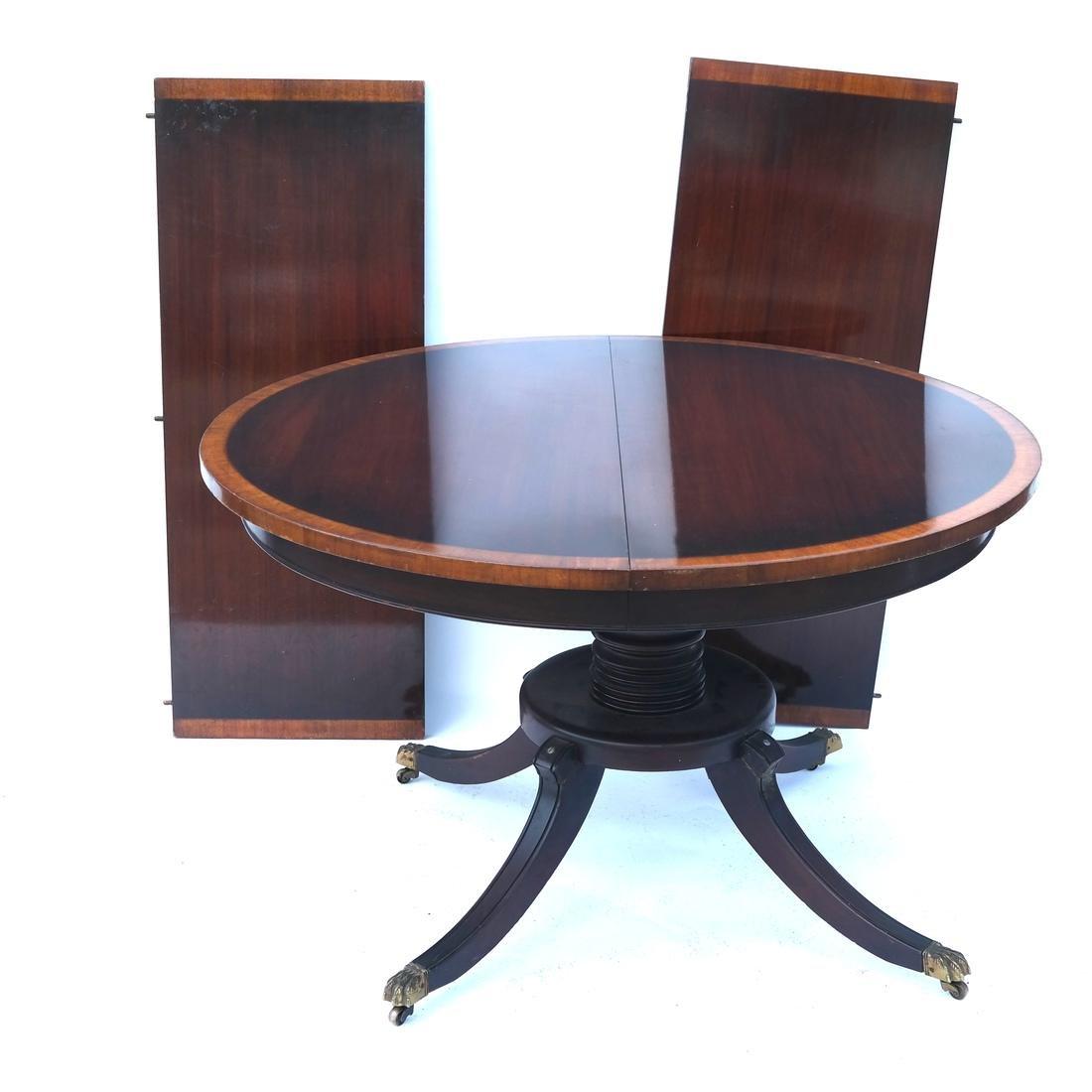 Mahogany Circular Dining Room Table - 2