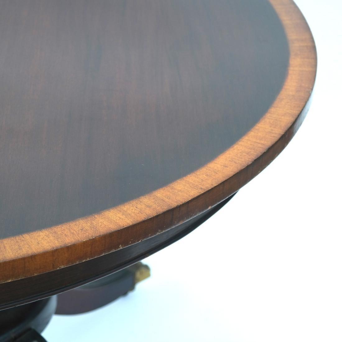 Mahogany Circular Dining Room Table - 4