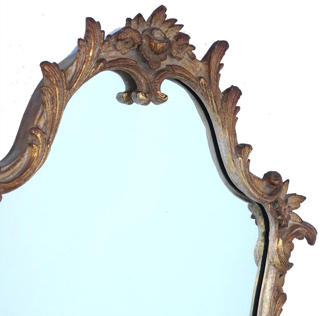 Ornate Floral and Leaf Gilt Mirror - 2