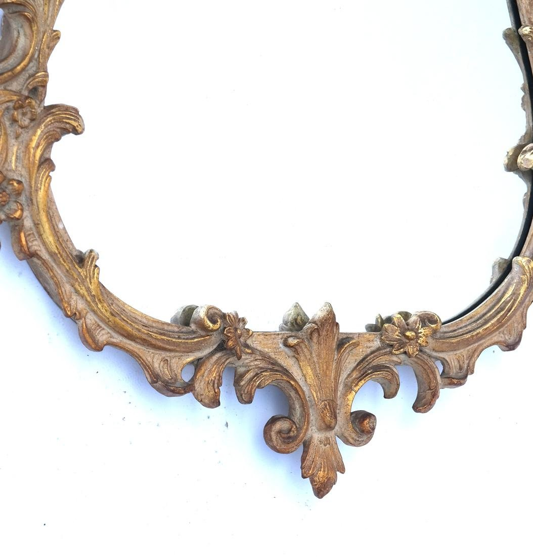 Ornate Floral and Leaf Gilt Mirror - 3