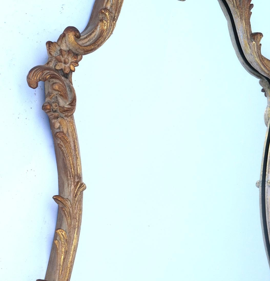 Ornate Floral and Leaf Gilt Mirror - 4