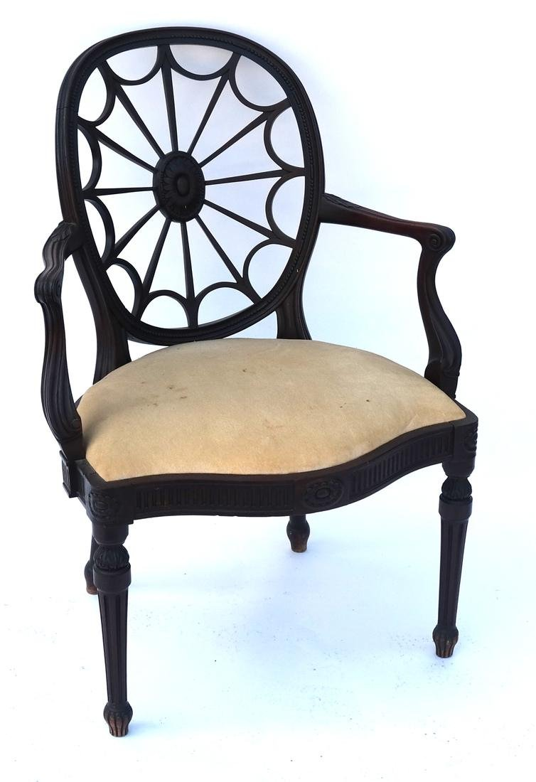 Wheel Back Open-Work Arm Chair