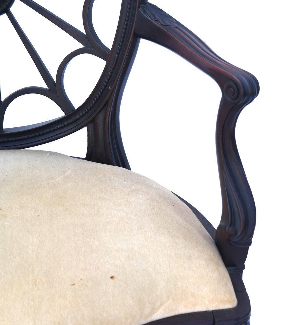 Wheel Back Open-Work Arm Chair - 3
