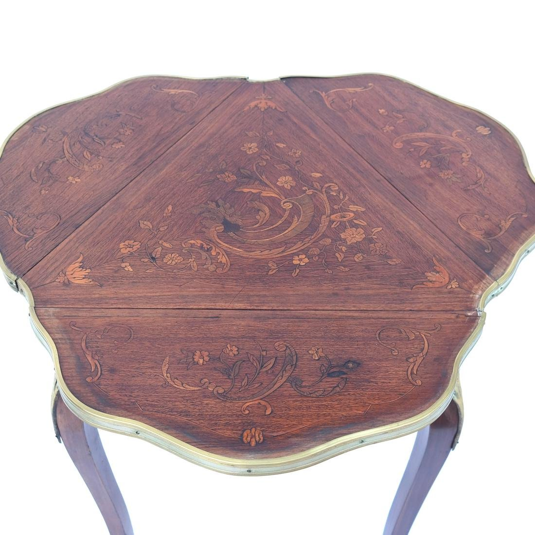 French Inlaid Table - 2