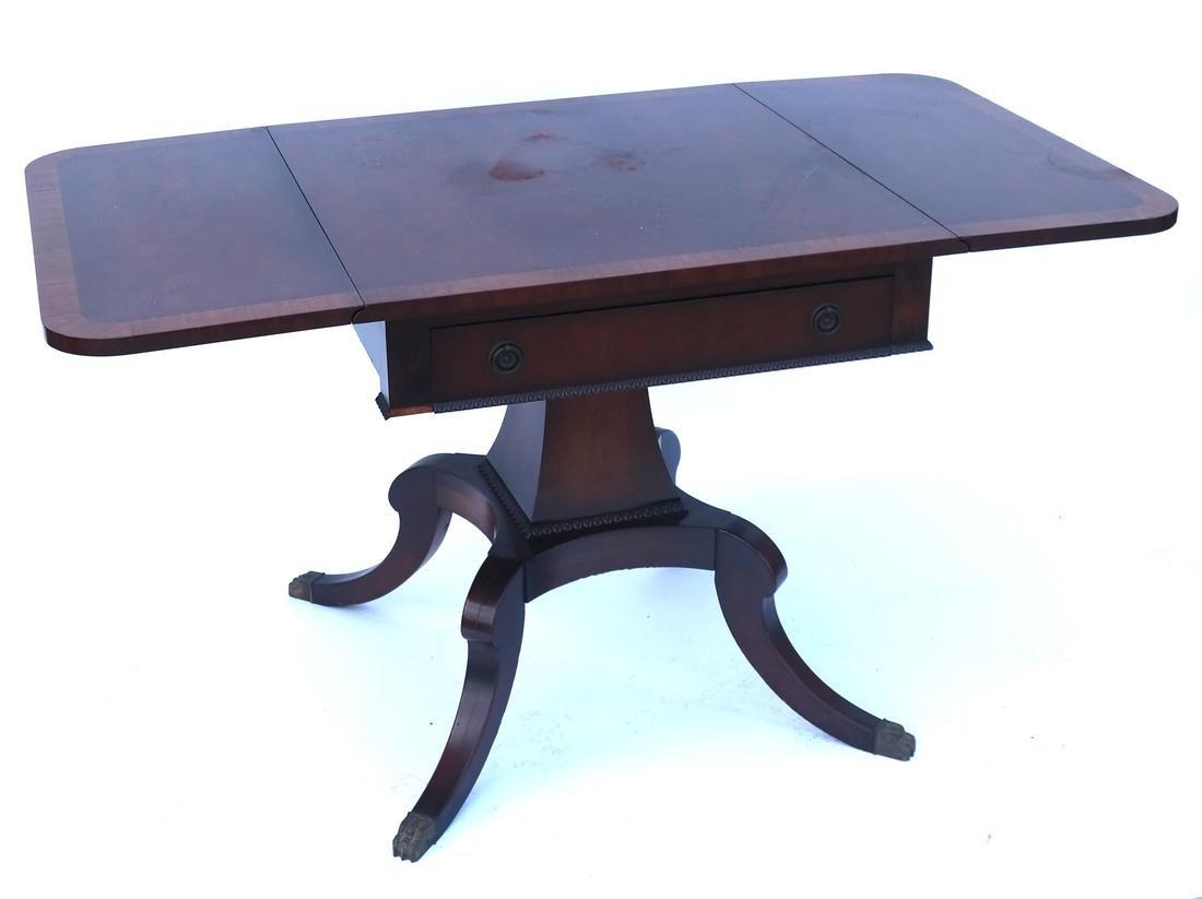 Mahogany Banded-Style Sofa Table