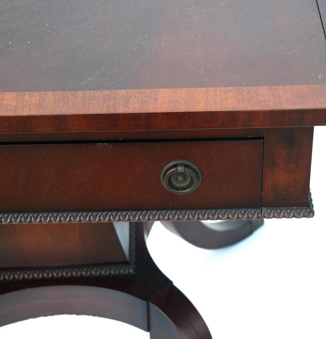 Mahogany Banded-Style Sofa Table - 3