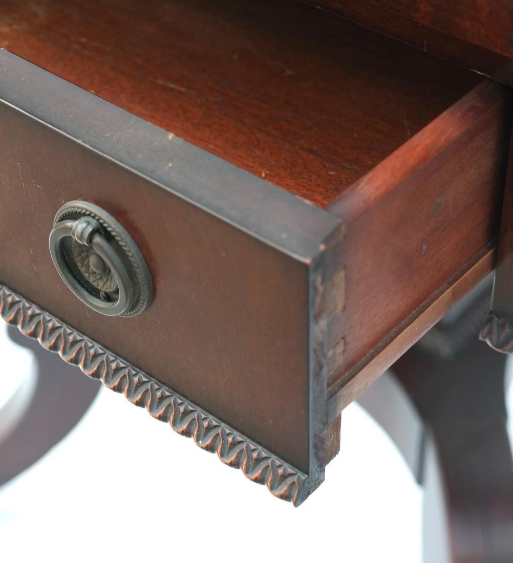 Mahogany Banded-Style Sofa Table - 4
