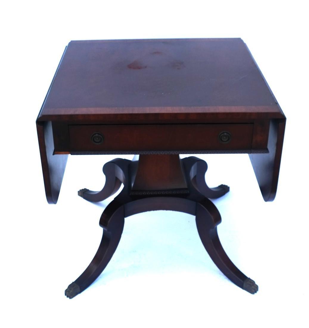 Mahogany Banded-Style Sofa Table - 6