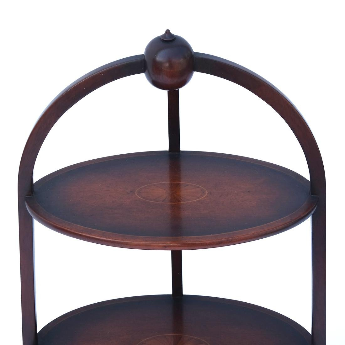 Three-Tier Inlaid Muffin Stand - 2