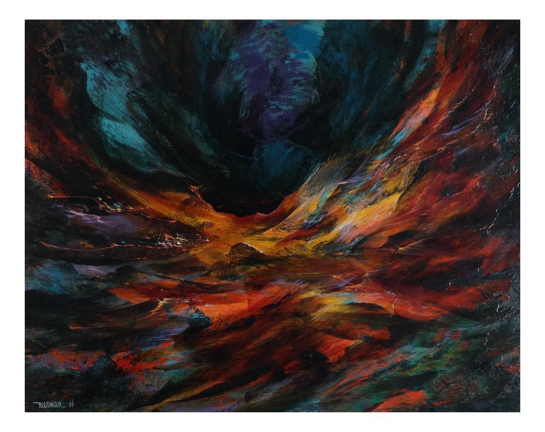 """Leonardo Nierman """"Firebird"""" Oil"""