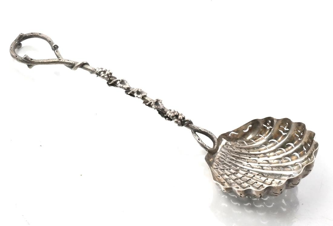 .800 Silver Berry Basket & Berry Spoon - 5