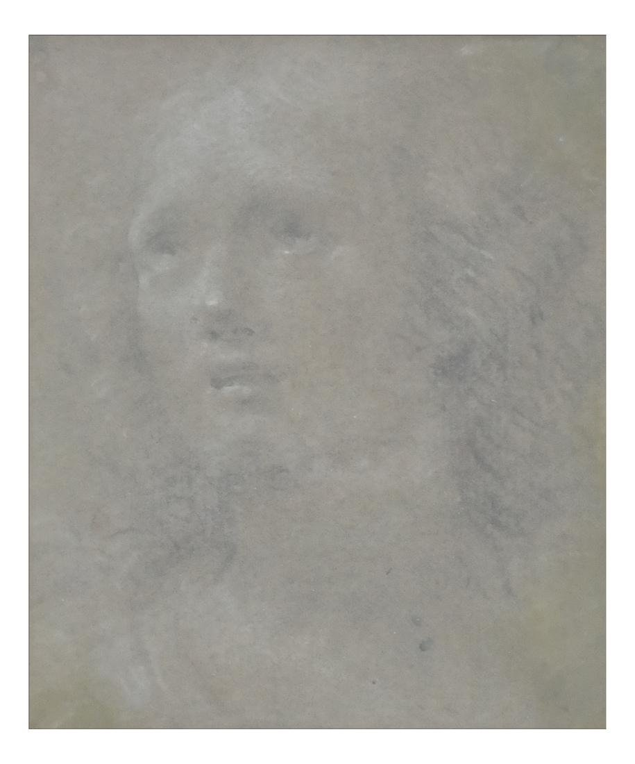 Old Master Drawing - Head Of A Saint
