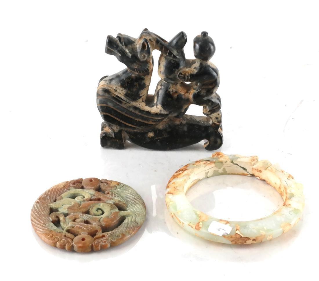 Chinese Soapstone, Jade, Hardstone Articles