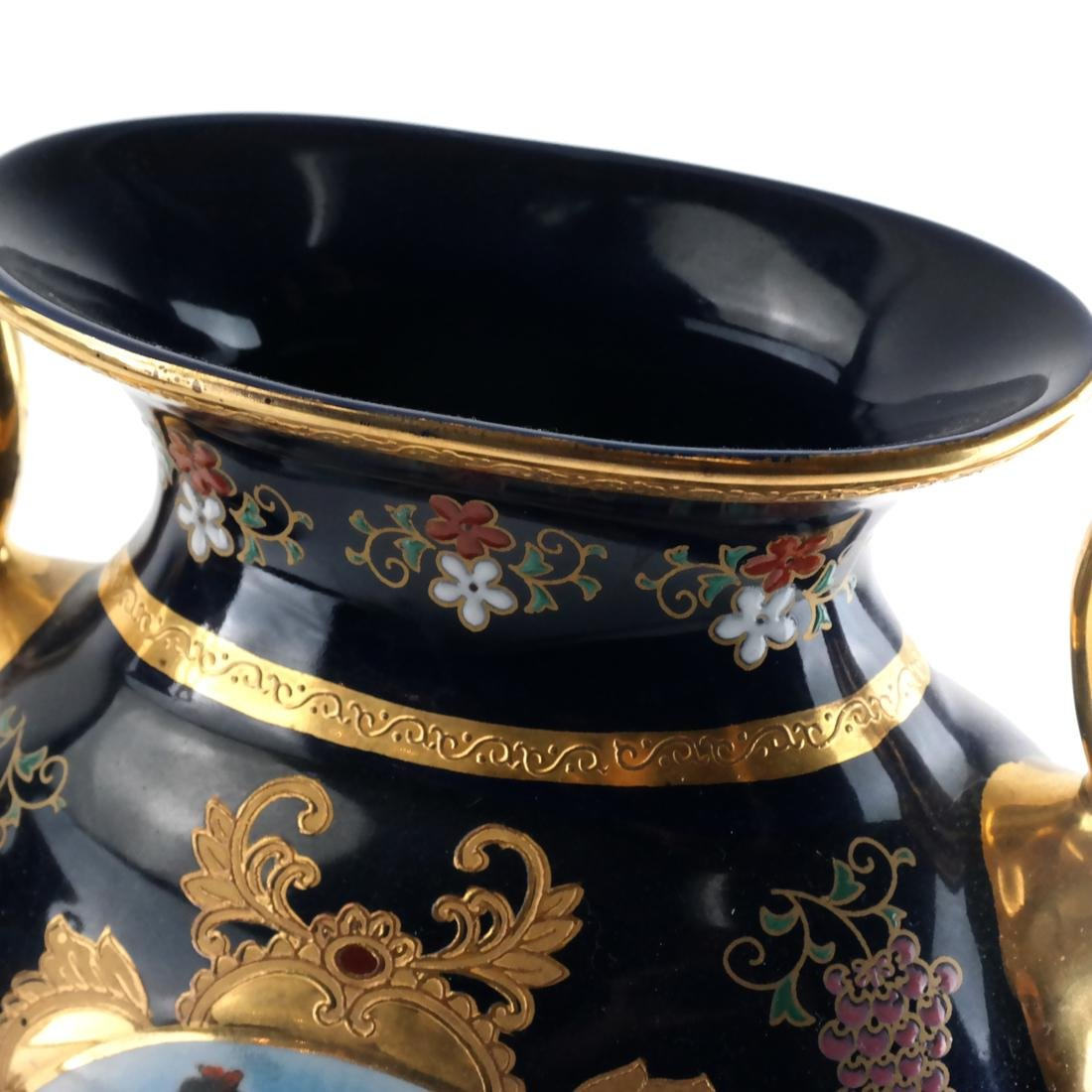 Pair of Limoges-Style Porcelain Vases - 4
