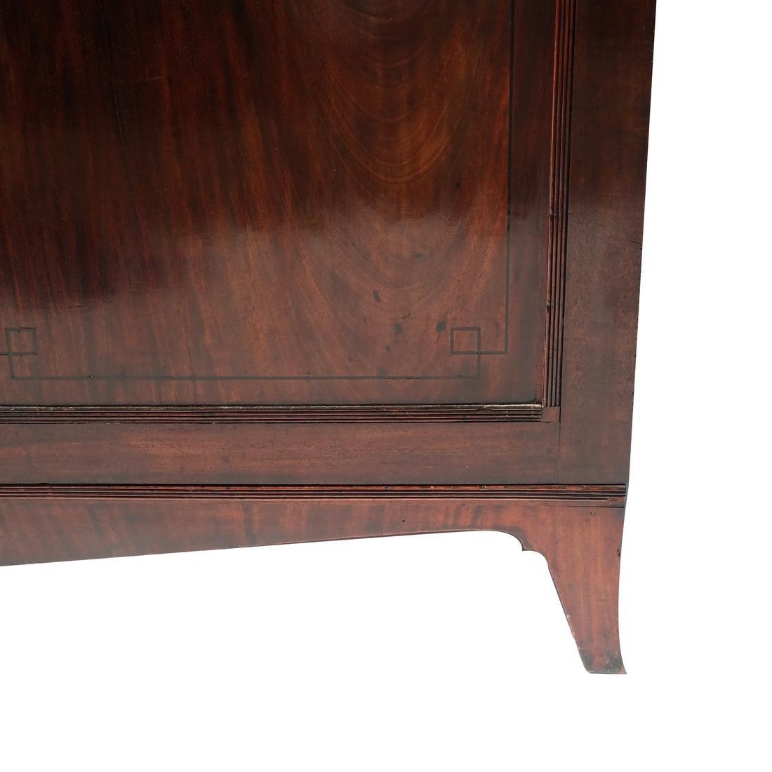 Antique English Mahogany Bookcase - 2