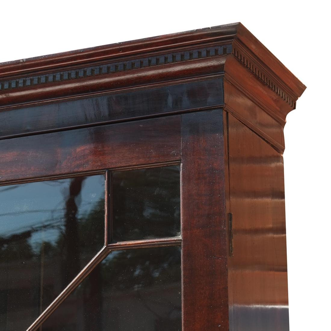 Antique English Mahogany Bookcase - 4