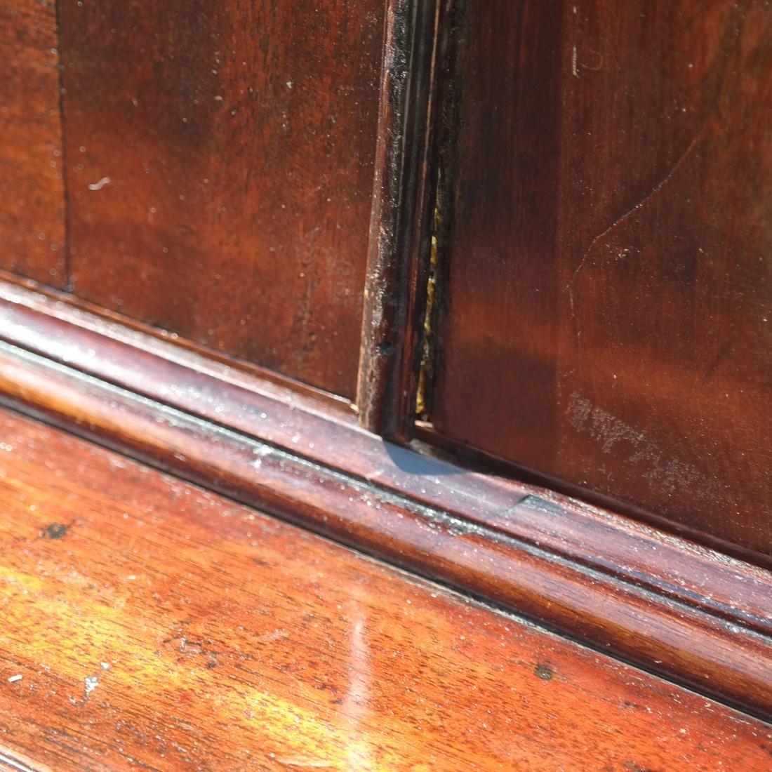 Antique English Mahogany Bookcase - 5