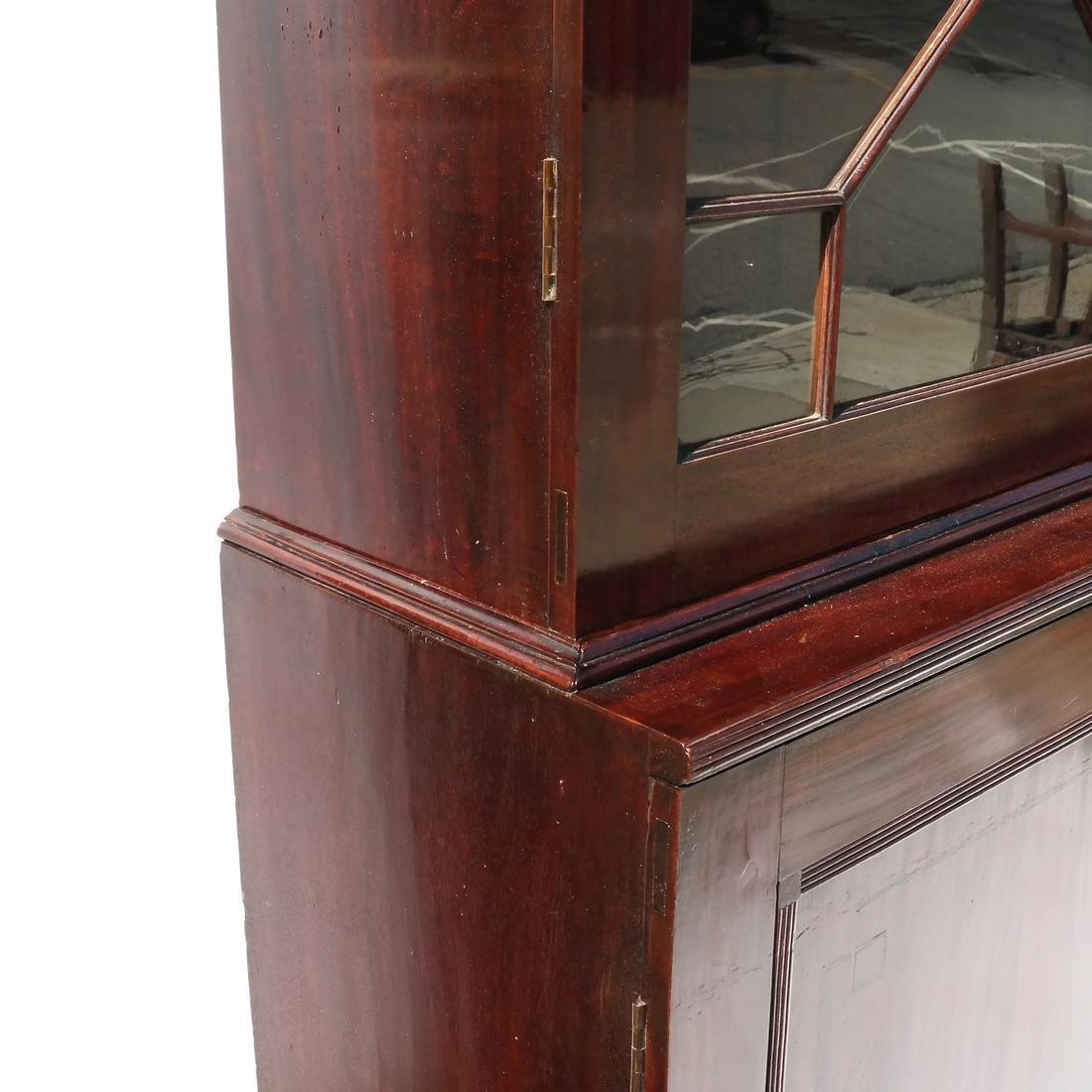 Antique English Mahogany Bookcase - 6
