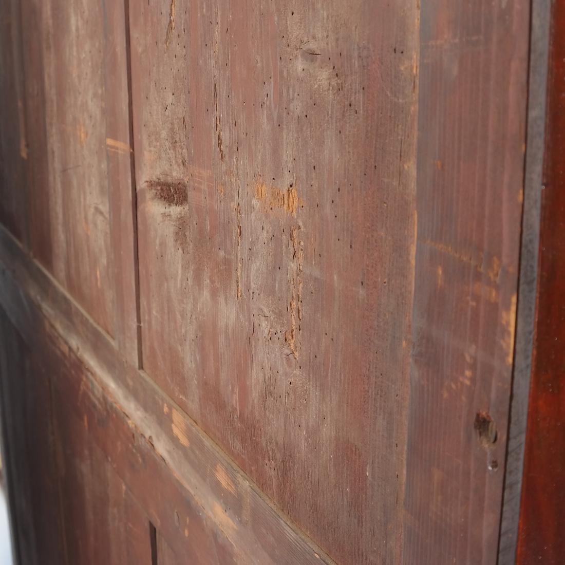 Antique English Mahogany Bookcase - 7