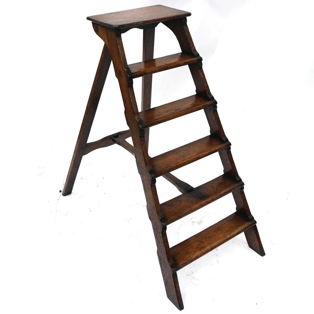 Oak Library Folding Ladder