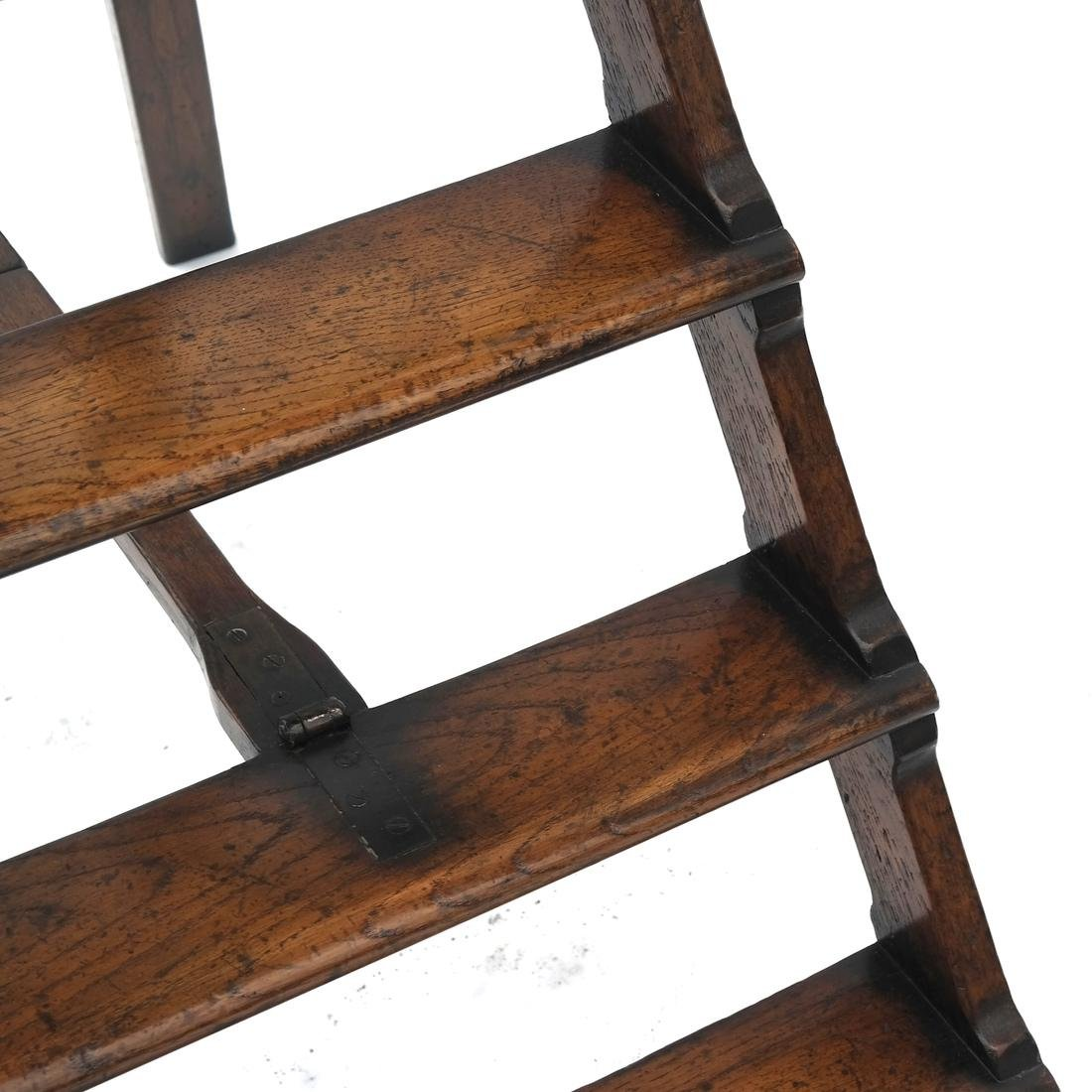 Oak Library Folding Ladder - 2