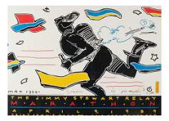 """Peter Max """"The Jimmy Stewart Relay"""" Poster"""