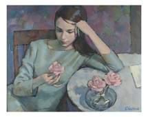 Steven Chudova Portrait of a Girl Painting