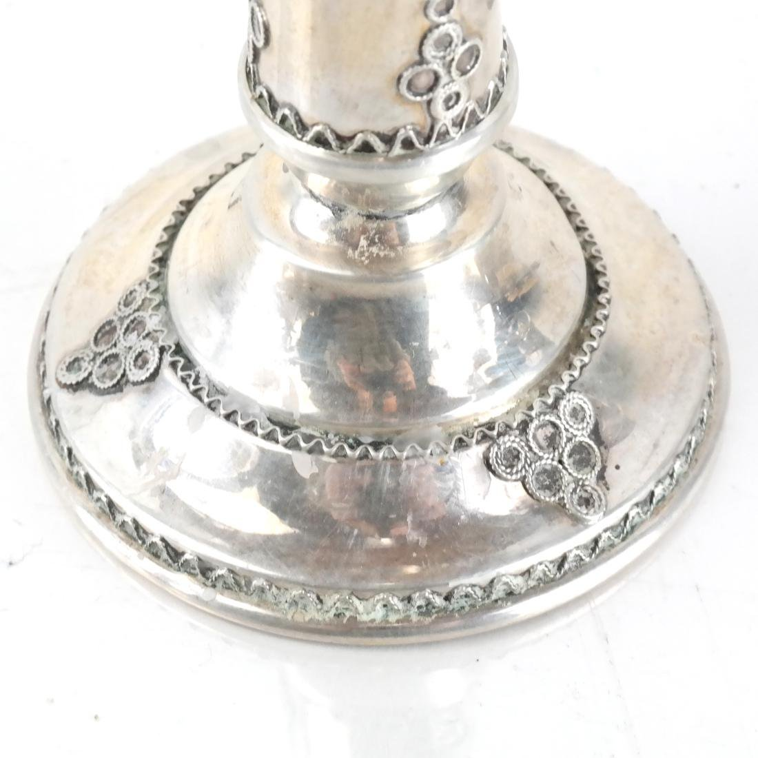 Pair Sterling Silver Candlesticks, +1 - 3