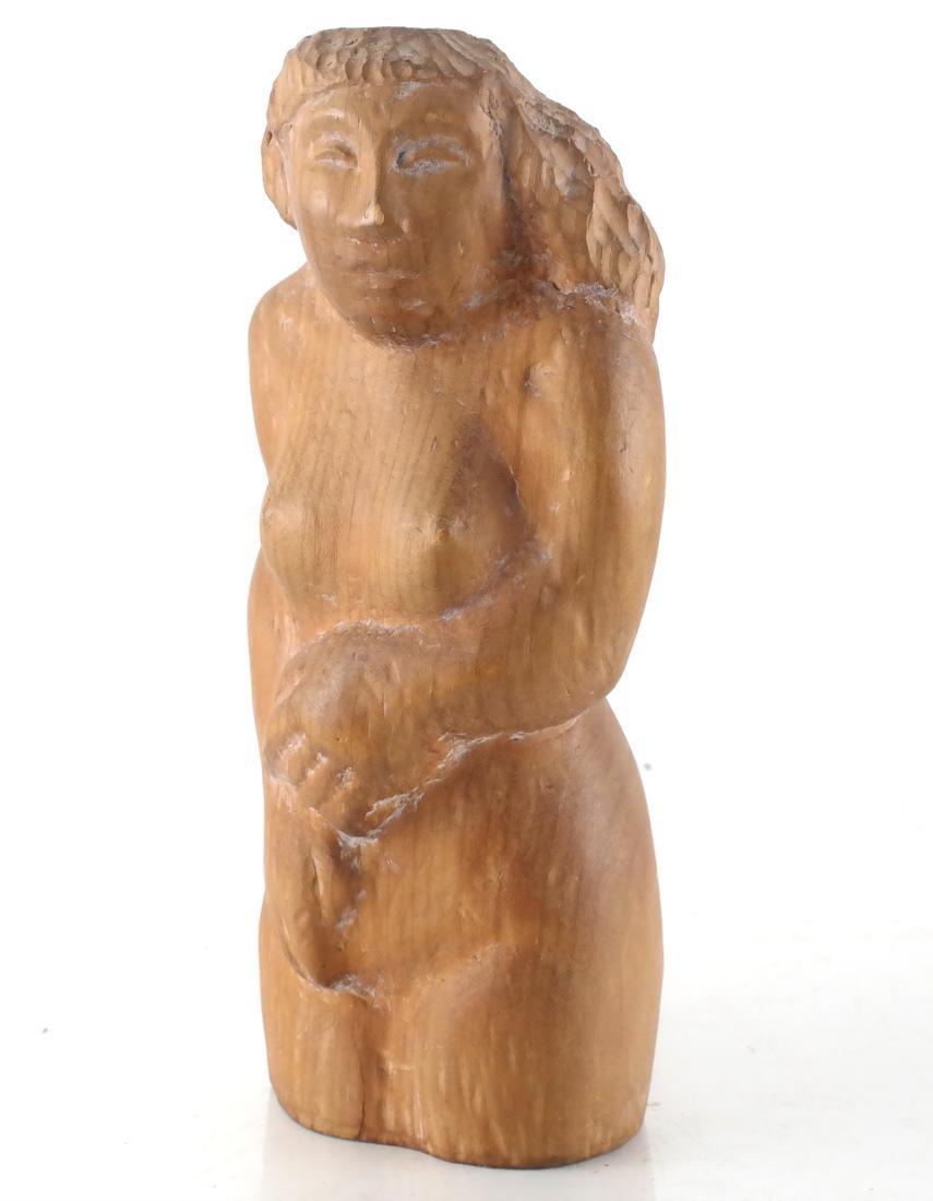 William Zorach-Type Wood Sculpture