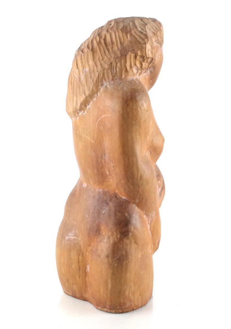 William Zorach-Type Wood Sculpture - 4