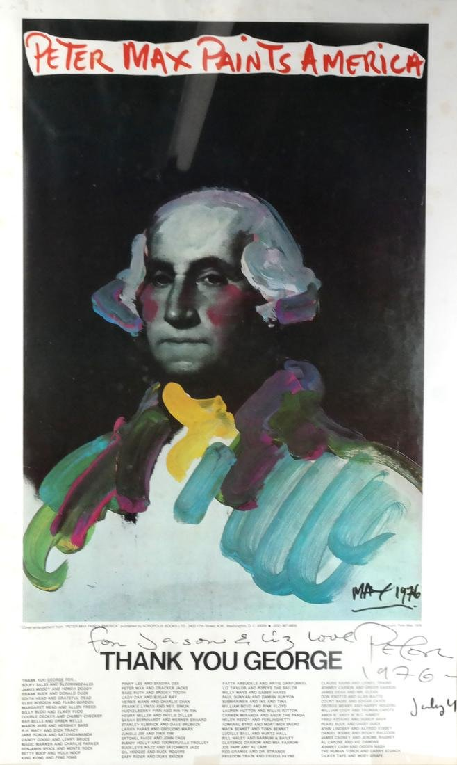 "Peter Max Poster ""Paints America"""