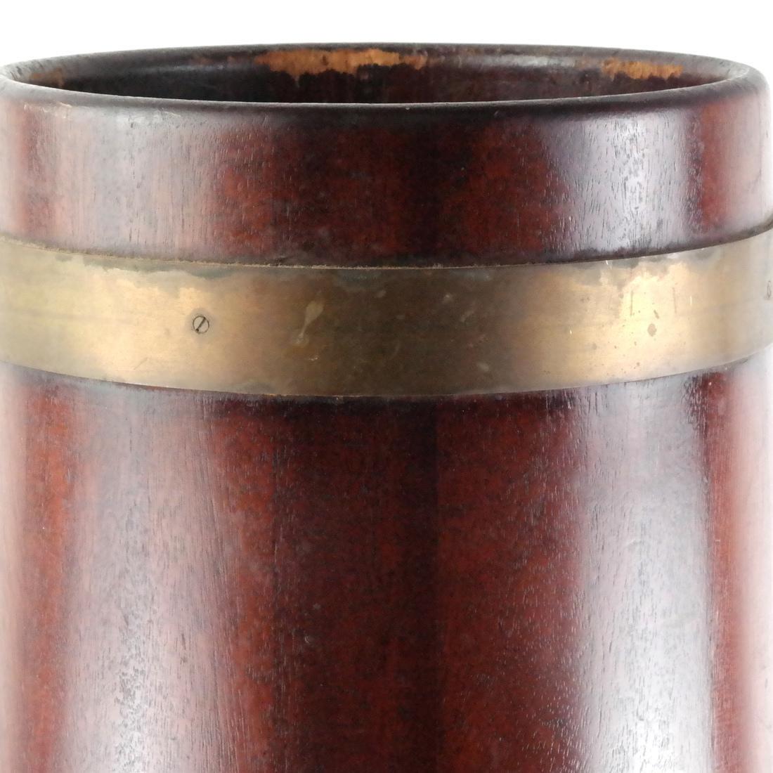 English Wood, Brass Umbrella Stand - 2