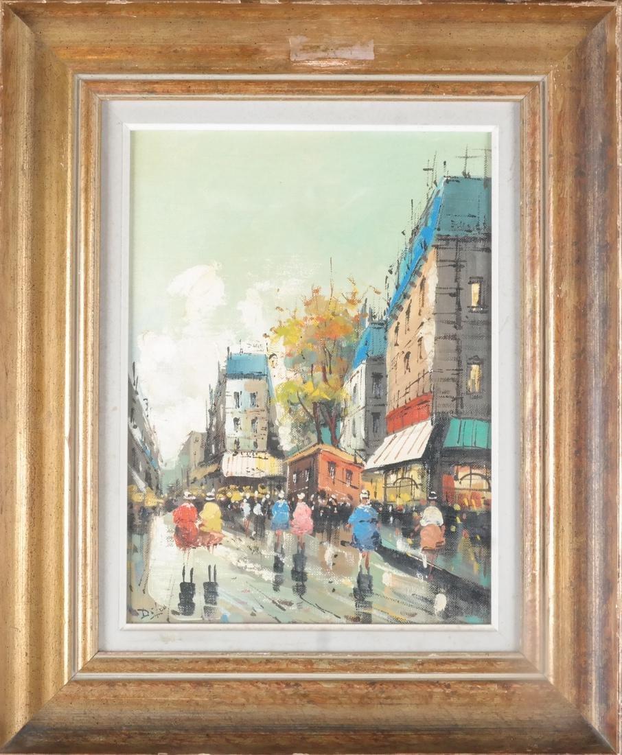 Di Leo Italian Street Scene Oil / Canvas - 2